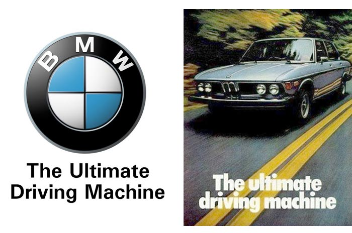 what brand uses the slogan the ultimate driving machine