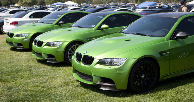 lime green BMW m3 at Bimmerfest